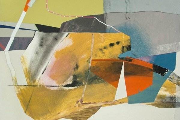 sbc 197, By Susan Cantrick, mixed media collage on paper
