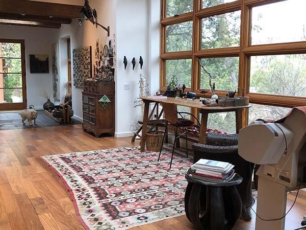 Catherine Eaton Skinner's Santa Fe workspace