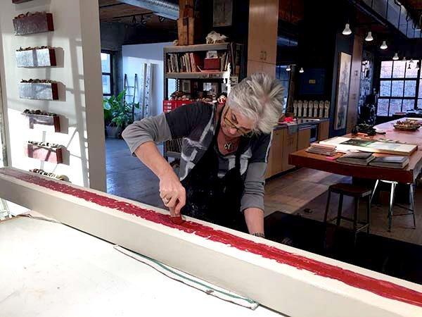 Catherine Eaton Skinner in her Seattle studio