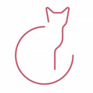 the center for the art of translation logo, a line drawing of a cat