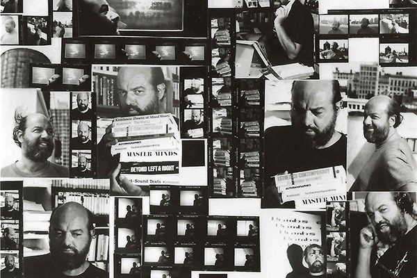 composite image of Richard Kostalanetz