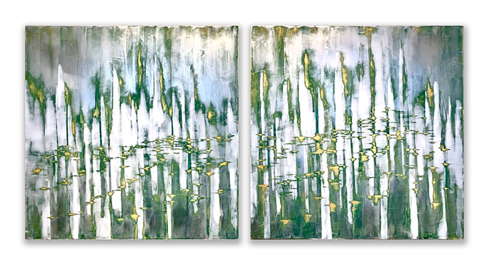 Illussions I & II Painting By Audra Weaser