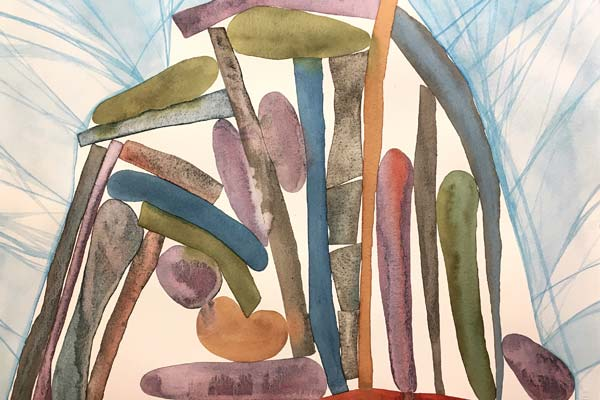 Abstract Watercolors: Unusual Compositions