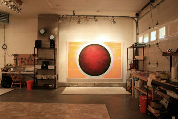 The interior of Sandy Sokoloff's studio