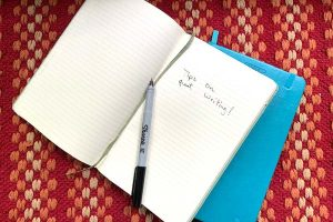 image of a couple of writing notebooks