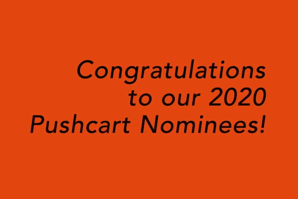 2020 Pushcart nominee announcement
