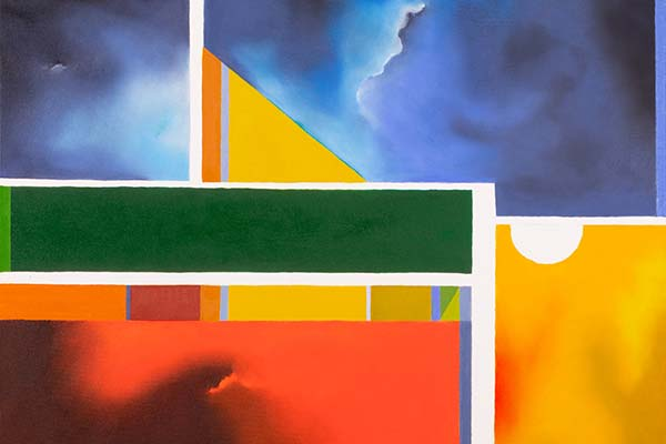 partial image of painting by Su KNoll Horty