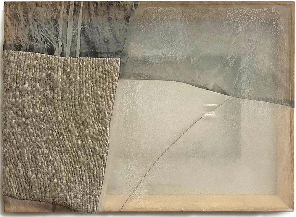 Friendship Painting (10) wool, silk, dye, pigment 10'' x 14'' by Martha Tuttle